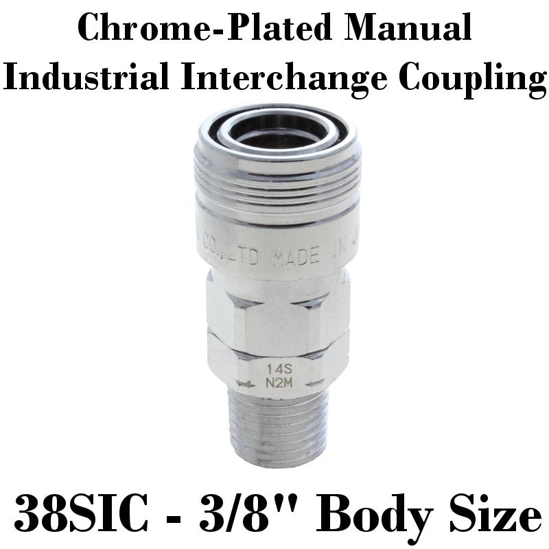 "3//8"" Body Industrial Interchange Coupler 1//2"" Female NPTF"