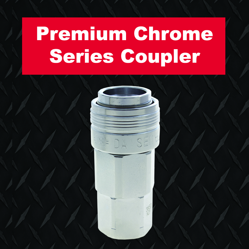 premium chrome pneumatic couplers