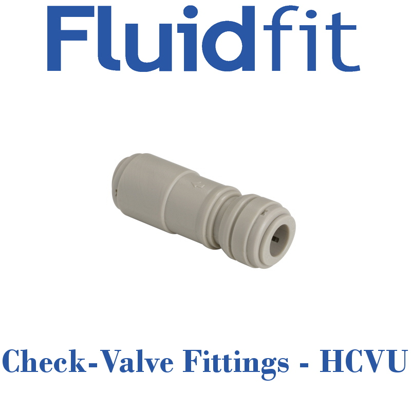 Fluidfit Check-Valve Fittings - Individual