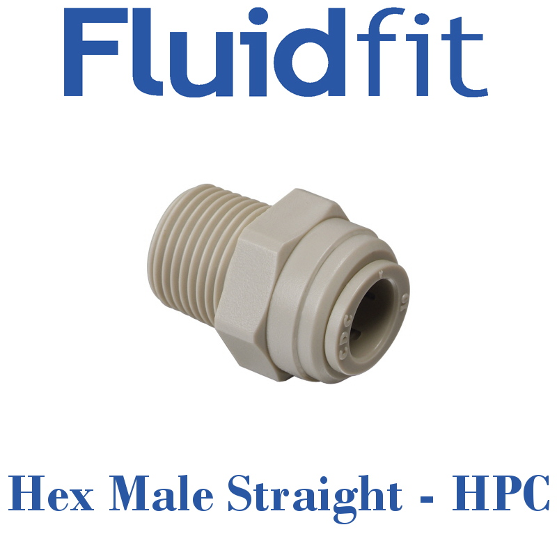 Fluidfit Hex Male Straight - Individual