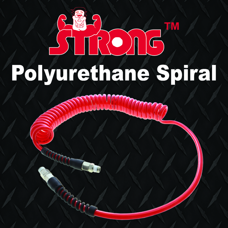 Strong spiral recoil hoses