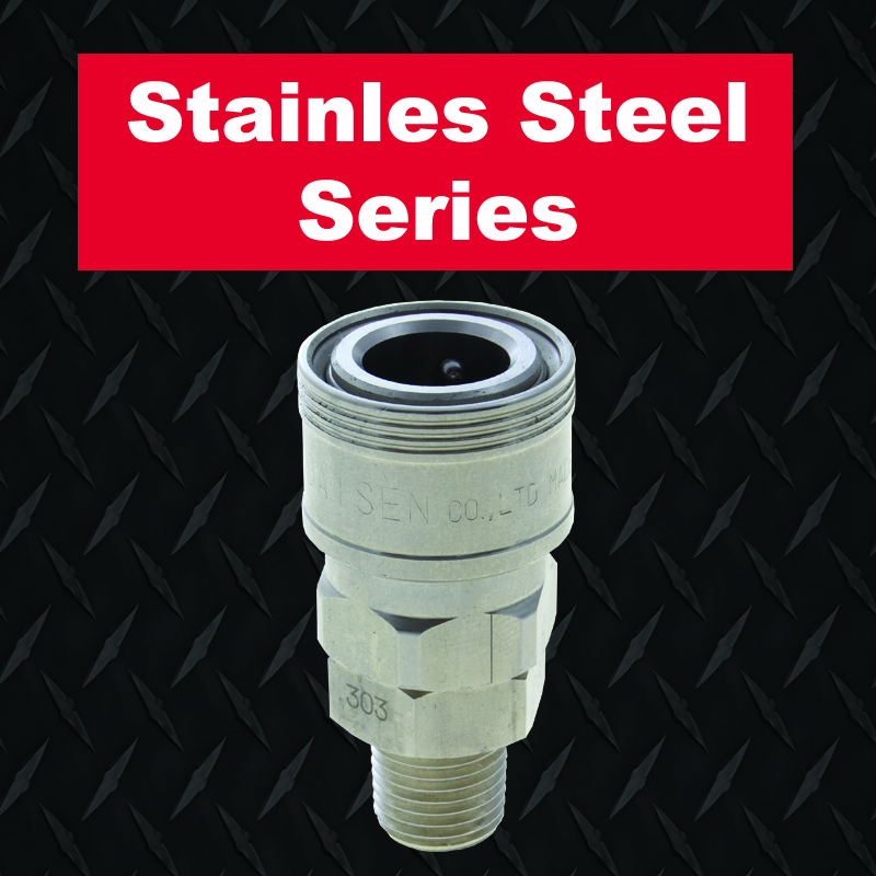 Stainless steel pneumatic couplers