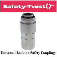 Safety-Twist Locking Universal Safety Coupling