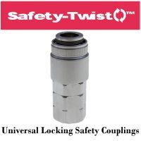 Safety-Twist Locking Universal Safety Coupling