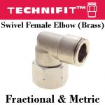 Brass Hex Female Elbow Thumb