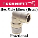 Brass Hex Male Elbow frac