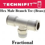Brass Hex Male Branch Tee Frac