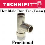 Brass Hex Male Run Tee Frac