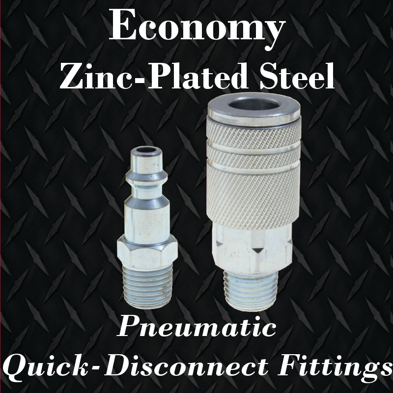 economy steel pneumatic couplers