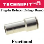 Plug-In Reducer Fitting Brass Frac