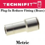 Plug-In Reducer Fitting Brass Metric
