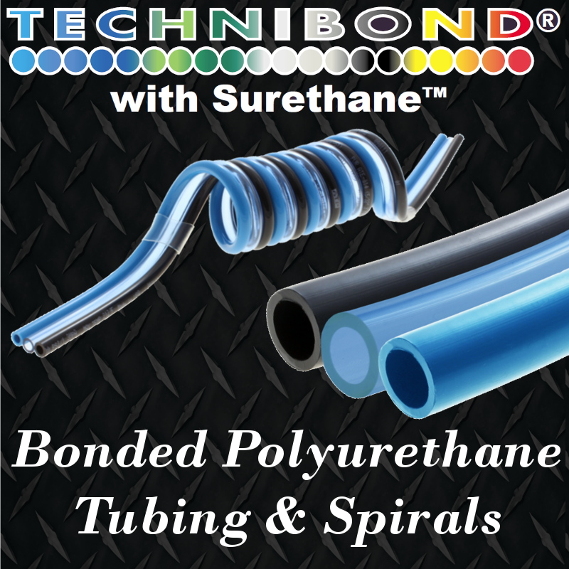 Technibond custom bonded straight and spiral pneumatic tubing