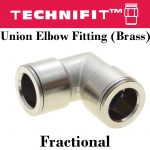 Union Elbow Fitting Brass Fracc