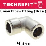 Union Elbow Fitting Brass Metric