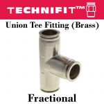 Union Tee Fitting Brass Frac