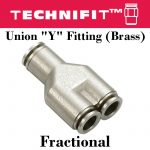 Union Y Fitting Brass Frac