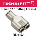 Union Y Fitting Brass Metric