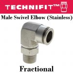 SS Male Elbow Frac