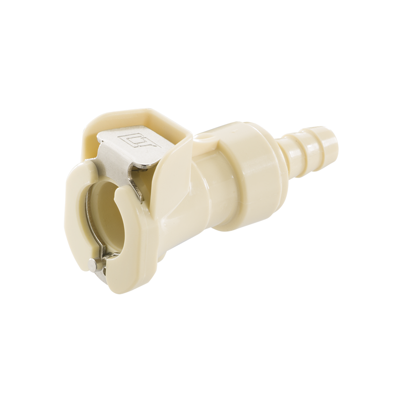 40PP Series In-Line Plug 40PPV-PE2-04 Valved 1//4 HB Molded Grey Color Sold in a package of 25